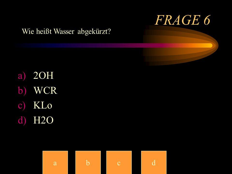 Frage 5 a)Tanz dich platt b)Die Show der Tänzer c)Dancingstars d)Tänzer(in) im Tanzmantel-Sako abccd Wie hieß vor ein paar Wochen die Berühmte Tanzsho