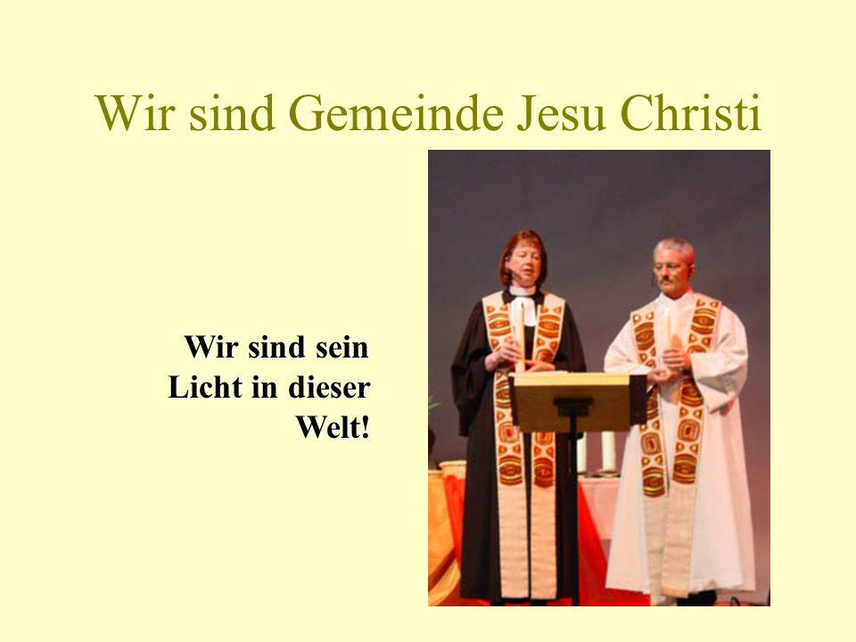 Christus ist das Licht der Welt Wir entzünden Taufkerzen an der Osterkerze