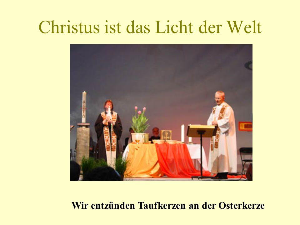 Tauferinnerung Die Taufe verbindet alle Christen