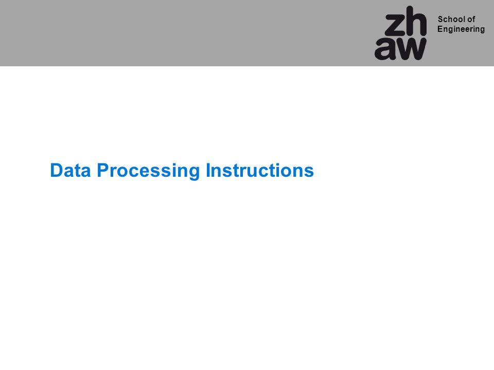 School of Engineering Data Processing Instructions