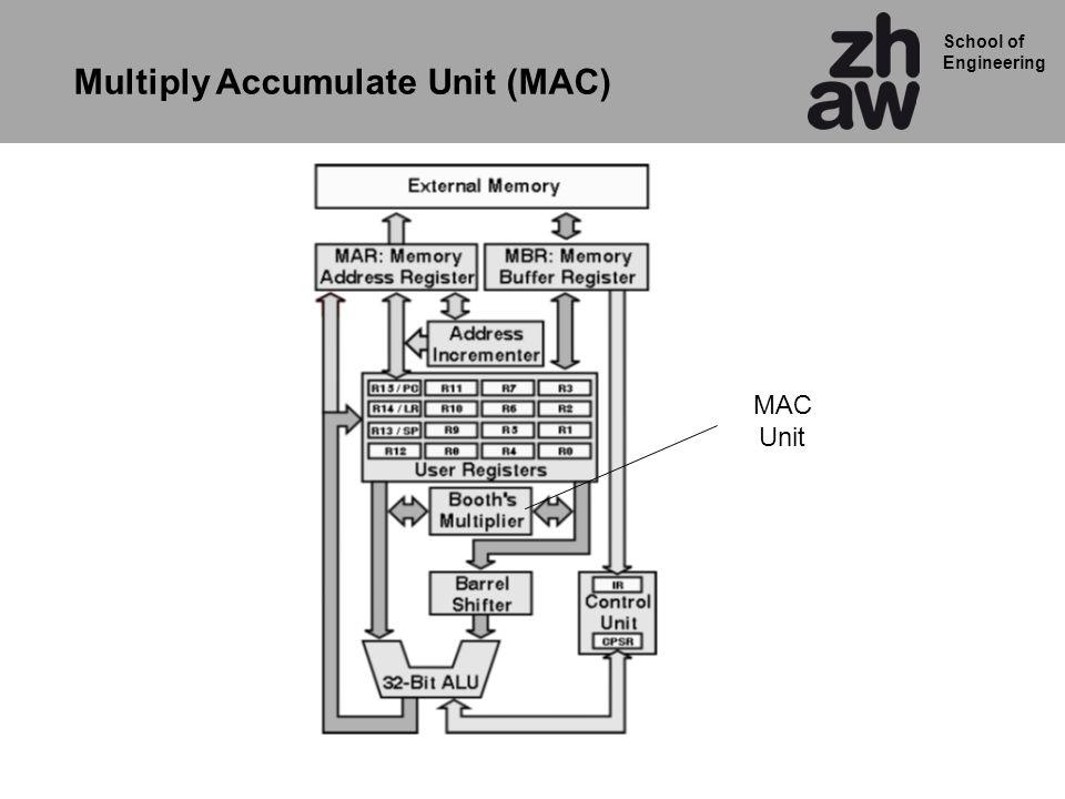 School of Engineering Multiply Accumulate Unit (MAC) MAC Unit