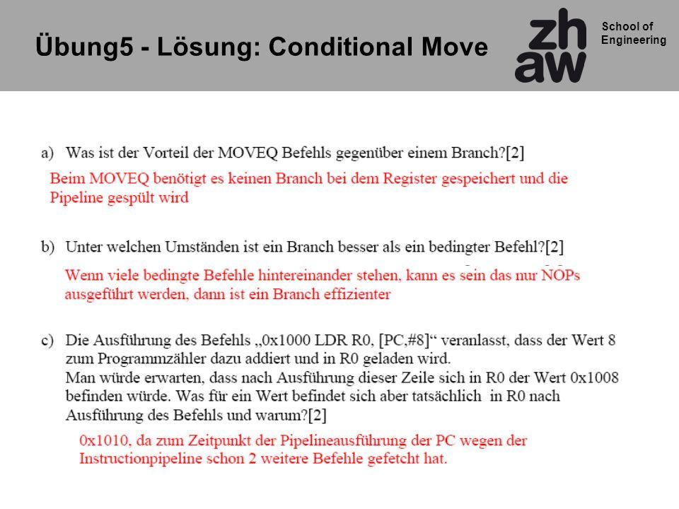 School of Engineering Übung5 - Lösung: Conditional Move