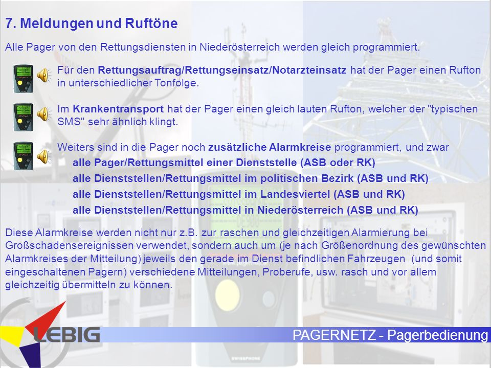 PAGERNETZ - Pagerbedienung 7.