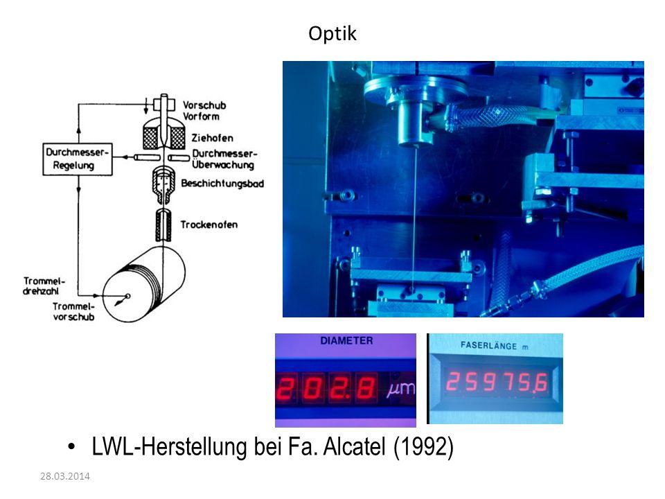 Optik 28.03.2014 LWL-Herstellung bei Fa. Alcatel (1992)