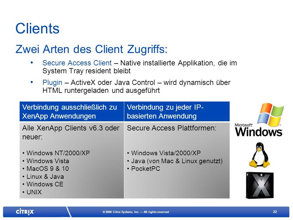 22 © 2008 Citrix Systems, Inc.