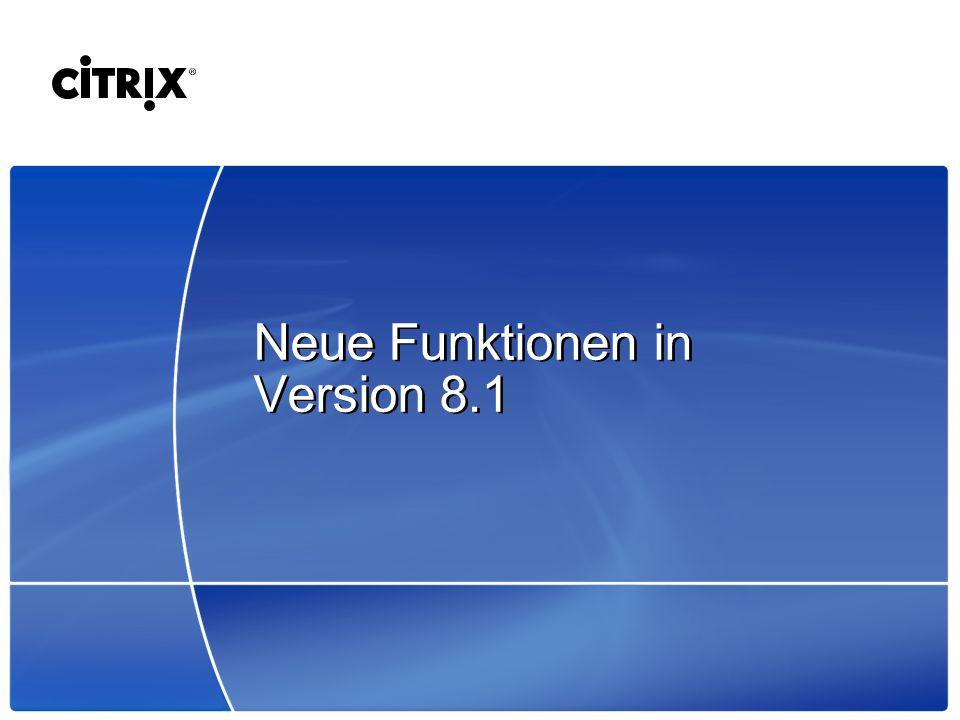 Neue Funktionen in Version 8.1