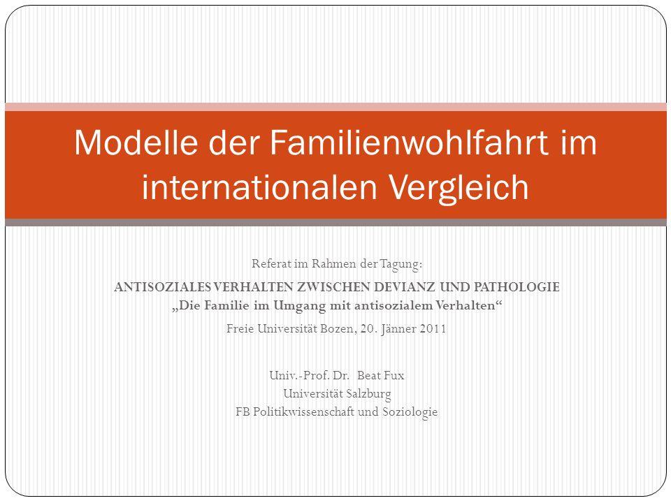 Referat im Rahmen der Tagung: ANTISOZIALES VERHALTEN ZWISCHEN DEVIANZ UND PATHOLOGIE Die Familie im Umgang mit antisozialem Verhalten Freie Universitä