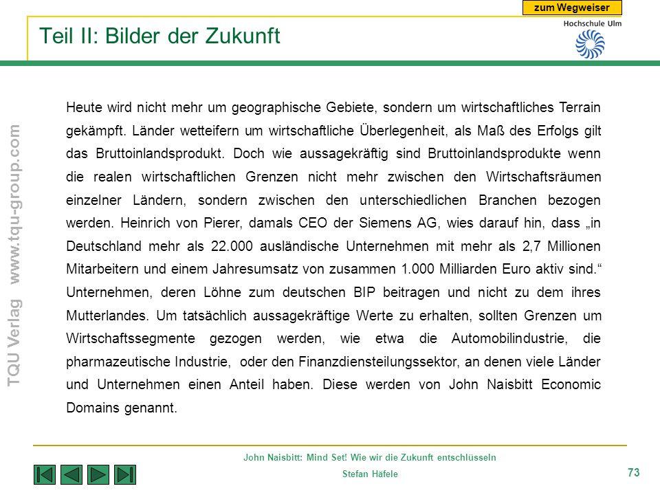 zum Wegweiser TQU Verlag www.tqu-group.com John Naisbitt: Mind Set! Wie wir die Zukunft entschlüsseln Stefan Häfele 73 Teil II: Bilder der Zukunft Heu