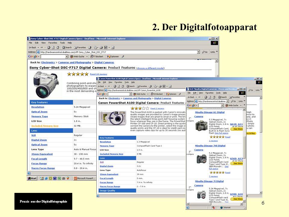 6 2. Der Digitalfotoapparat Sony Cyber-Shot DSC-F717 Digital Camera: Product Features (choose a different model)choose a different model Read 18 revie