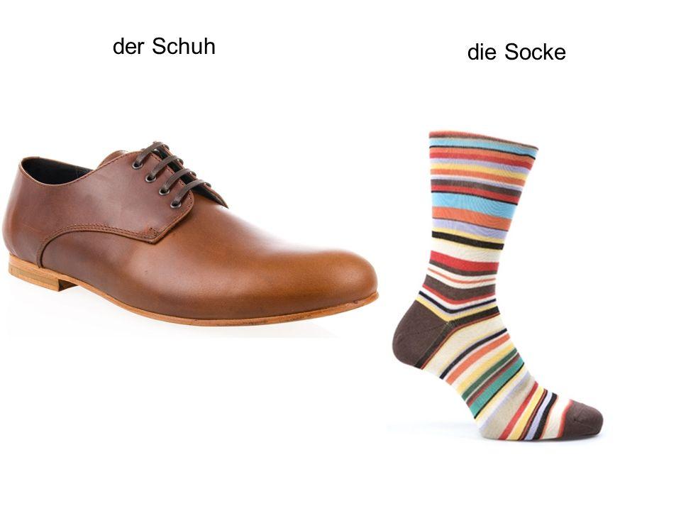 der Schuh die Socke