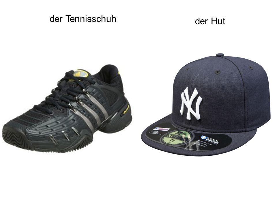 der Tennisschuh der Hut