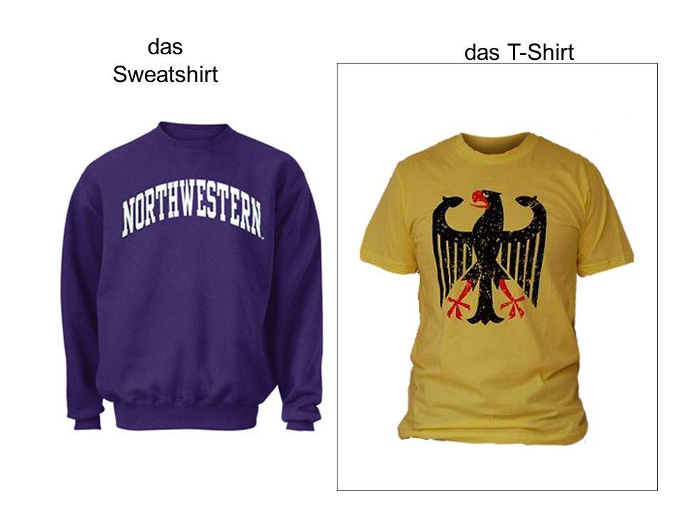 das Sweatshirt das T-Shirt