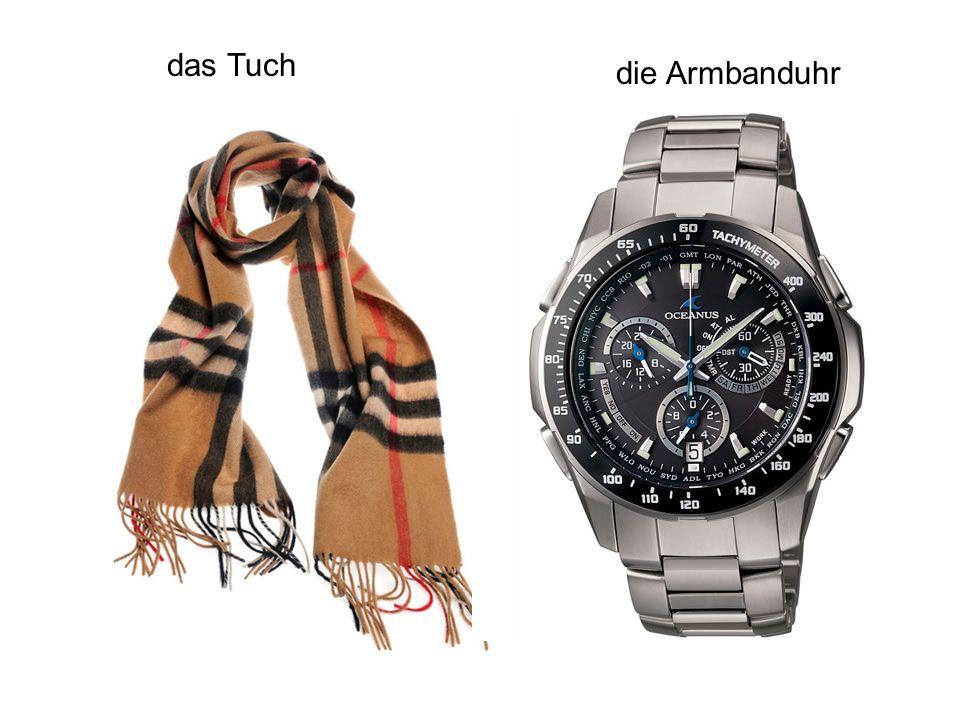 das Tuch die Armbanduhr