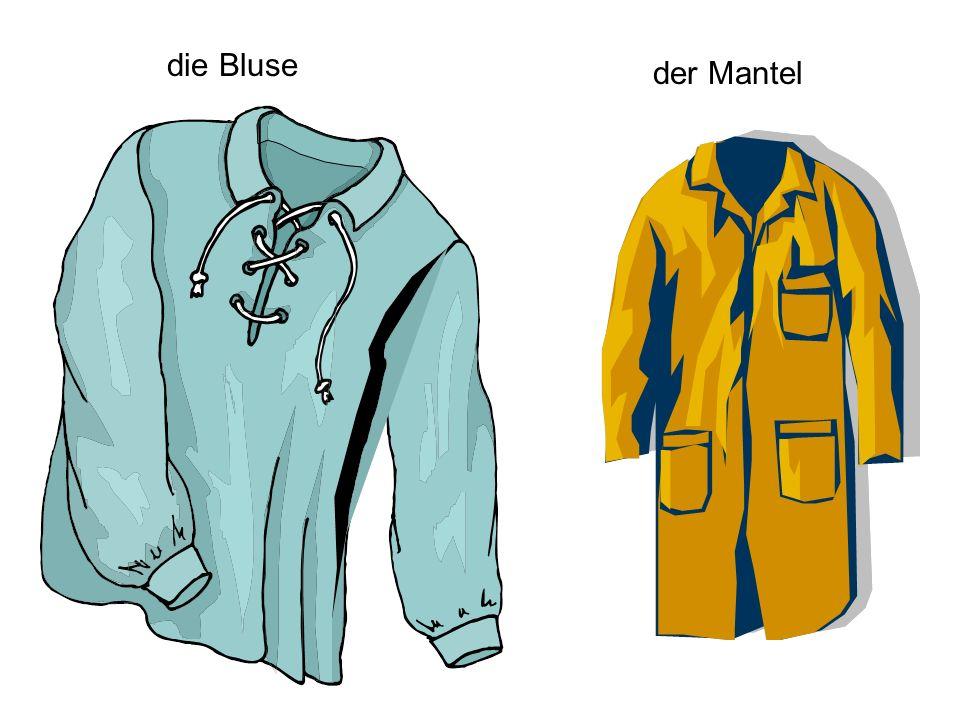 die Bluse der Mantel