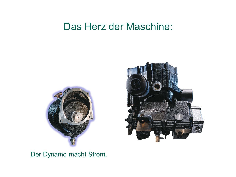 Der Dynamo macht Strom. Das Herz der Maschine: