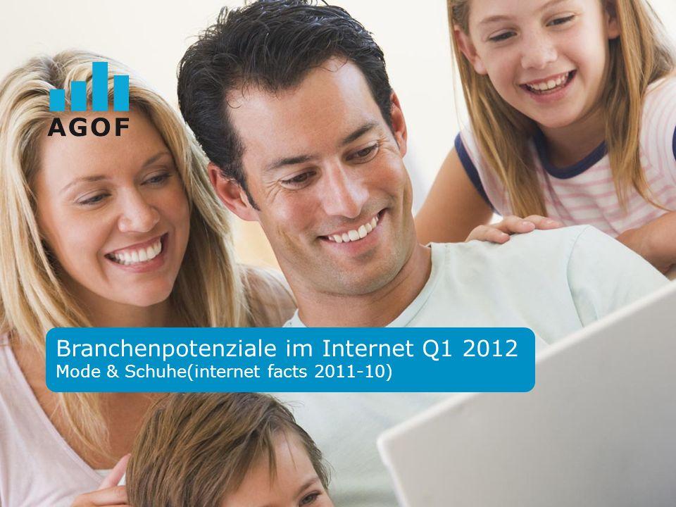Branchenpotenziale im Internet Q1 2012 Mode & Schuhe(internet facts 2011-10)
