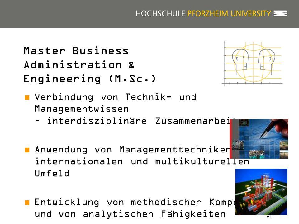 20 Verbindung von Technik- und Managementwissen – interdisziplinäre Zusammenarbeit Anwendung von Managementtechniken im internationalen und multikultu