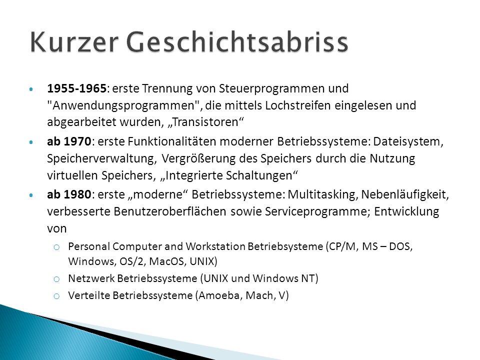1955-1965: erste Trennung von Steuerprogrammen und