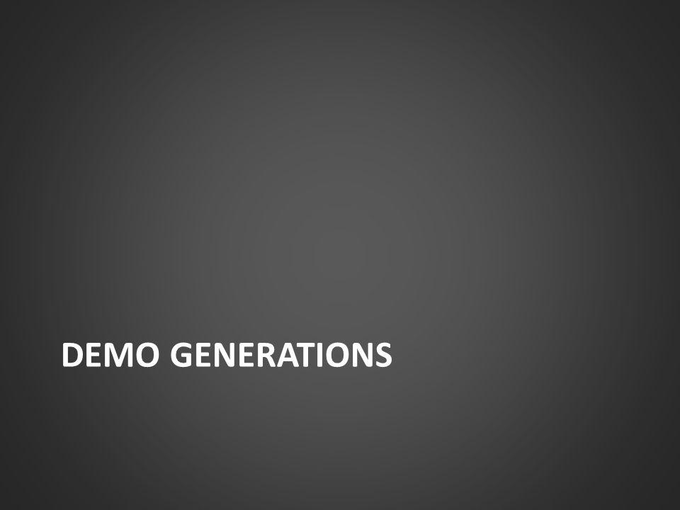 DEMO GENERATIONS