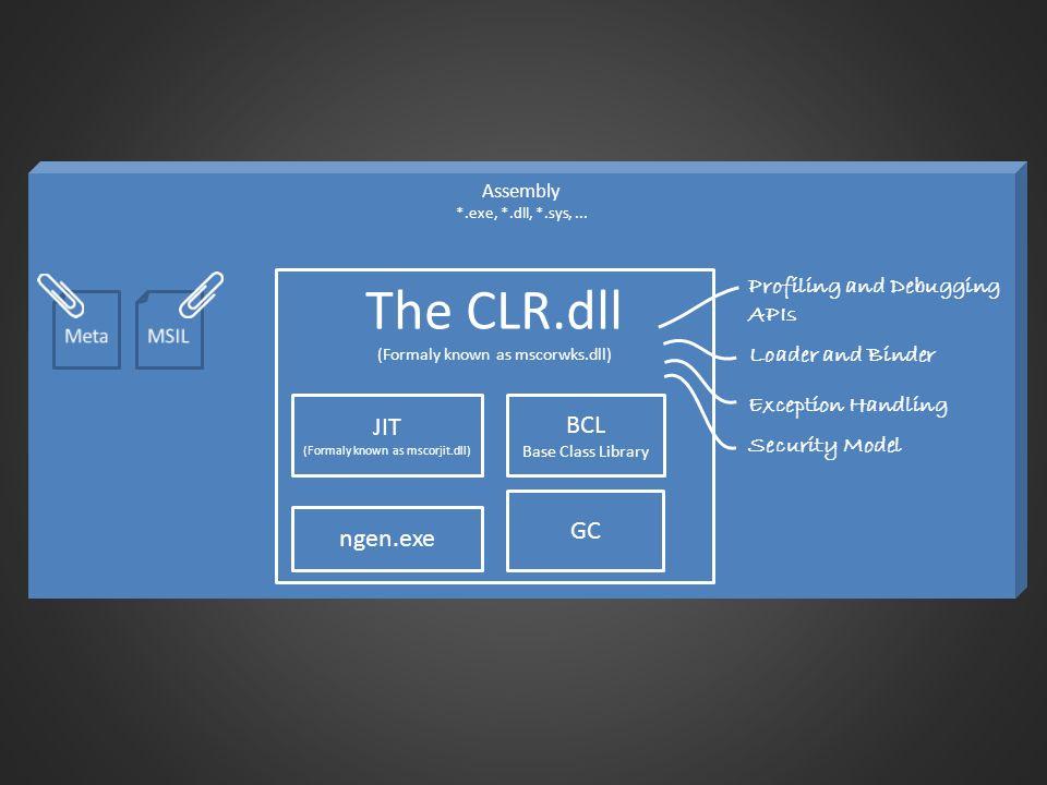 The CLR evolved t CLR 1.0.NET 1.0 2002 CLR 1.1.NET 1.1 2003 CLR 2.0.NET 2.0 2005 - 2008 3.0 3.5 SP1 CLR 4.0.NET 4.0 20102011-x CLR 4.5.NET 4.5