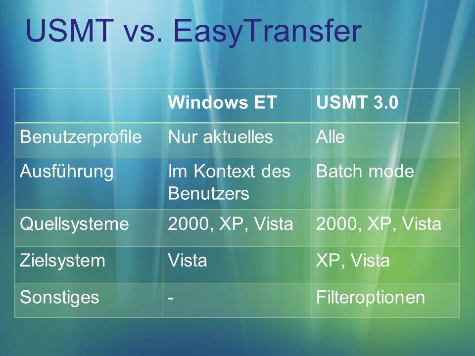 USMT vs.