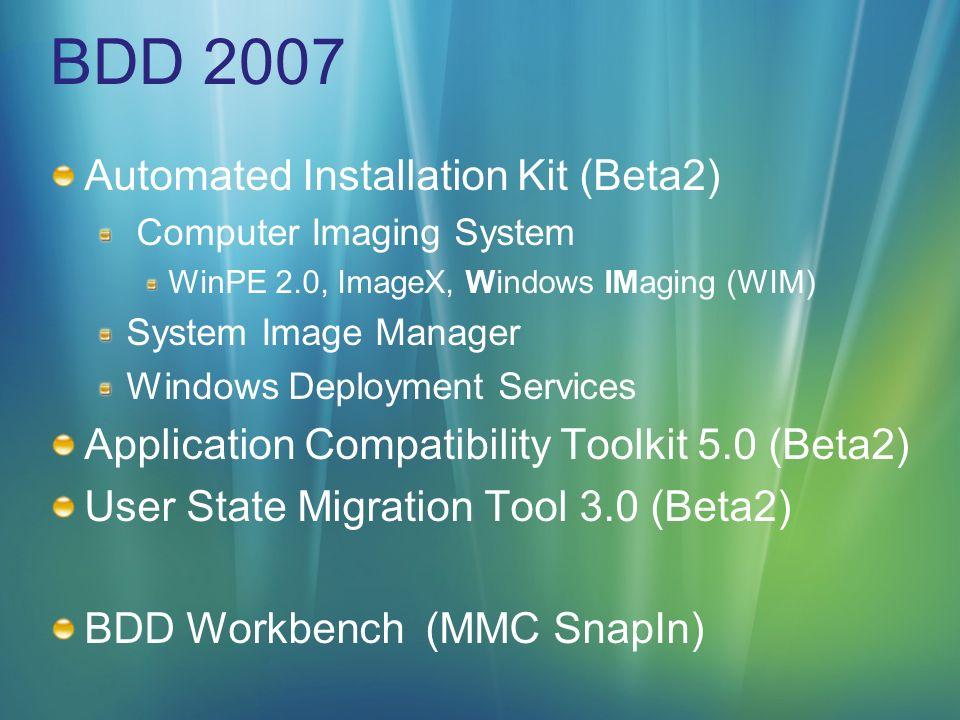 Migrations Hinweise Roaming Profiles Migration von älteren Windows Versionen funktioniert nicht, da sich die Profilstruktur in Windows Vista verändert hat Folder Redirection Erfasst nicht alle Benutzerdaten (Favoriten, Templates werden nicht erfasst…) Migration nach der Installation von Anwendungen