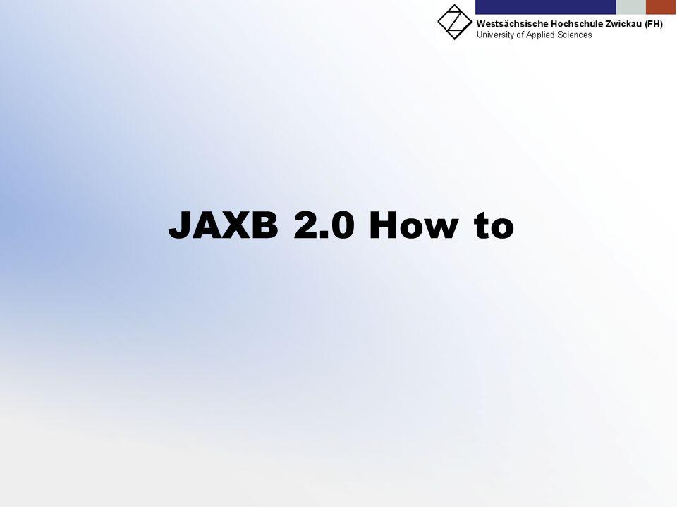 JAXB 2.0 How to