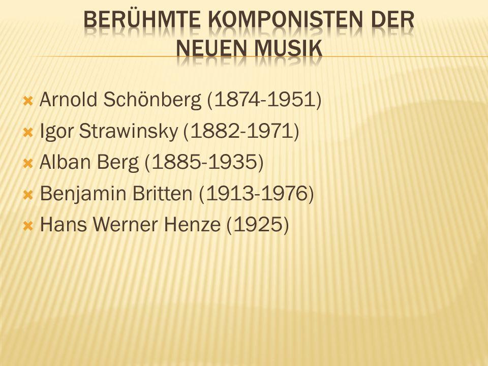Richtet sich nach den Angaben des Komponisten Besonders das Schlaginstrumentarium wurde im vergleich zum Orchester der Romantik erweitert Große Freihe