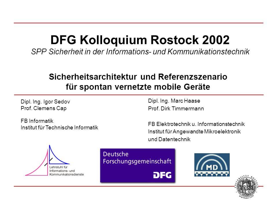 Dipl.Ing. Marc Haase Prof. Dirk Timmermann FB Elektrotechnik u.