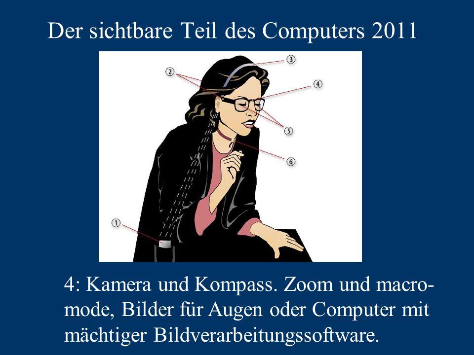 Der sichtbare Teil des Computers 2011 4: Kamera und Kompass.