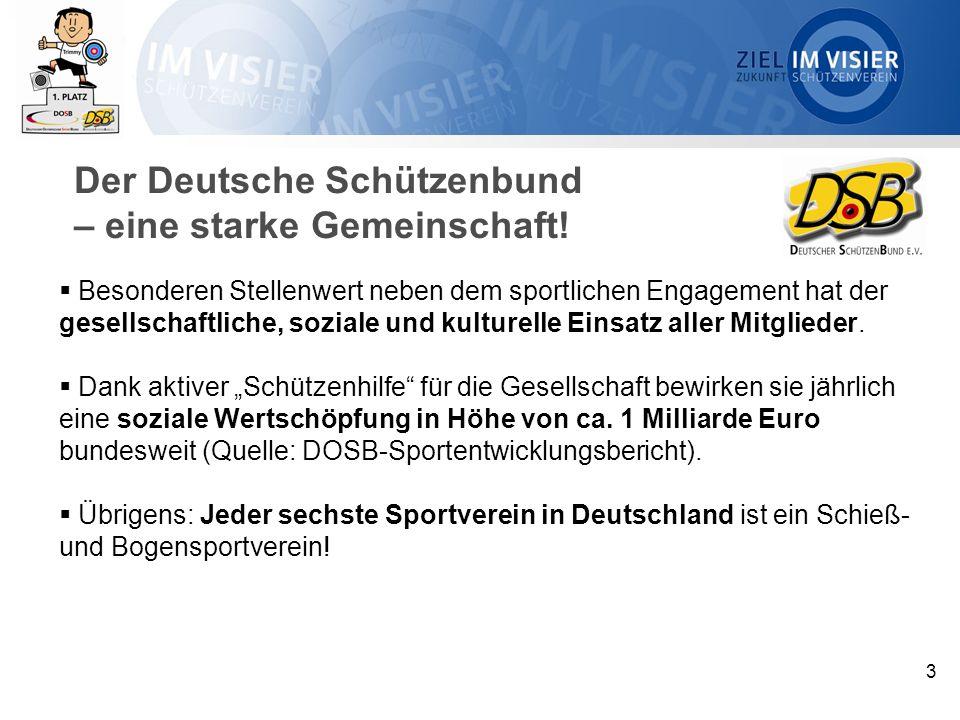 3 Der Deutsche Schützenbund – eine starke Gemeinschaft.