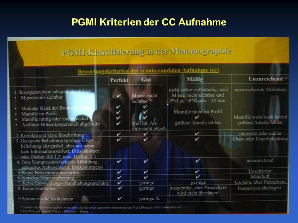 PGMI Kriterien der CC Aufnahme