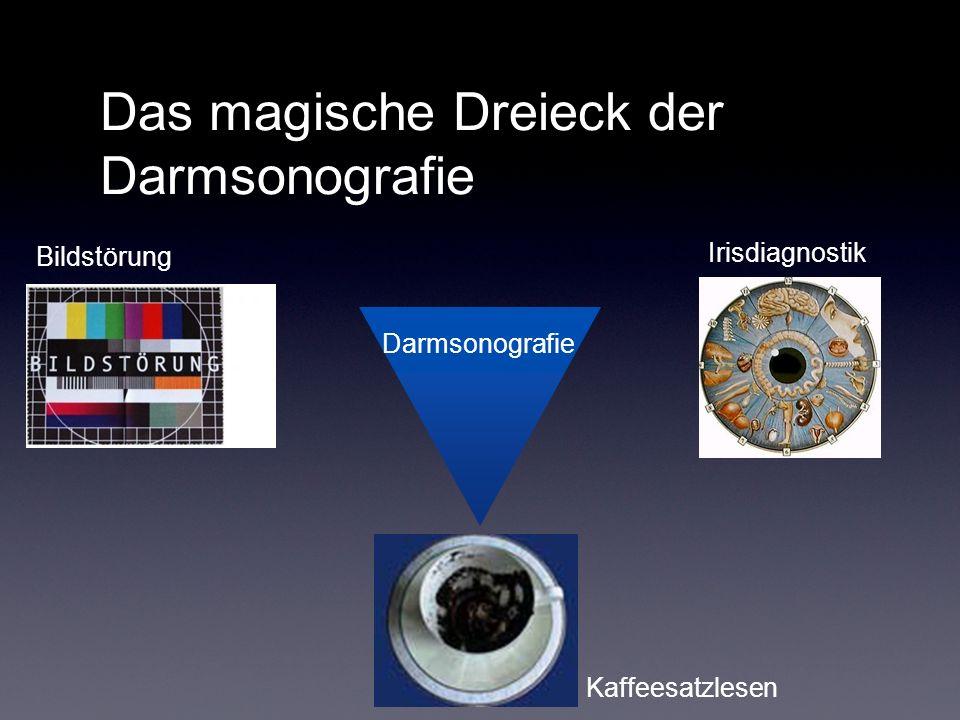 Das magische Dreieck der Darmsonografie Irisdiagnostik Bildstörung Kaffeesatzlesen Darmsonografie