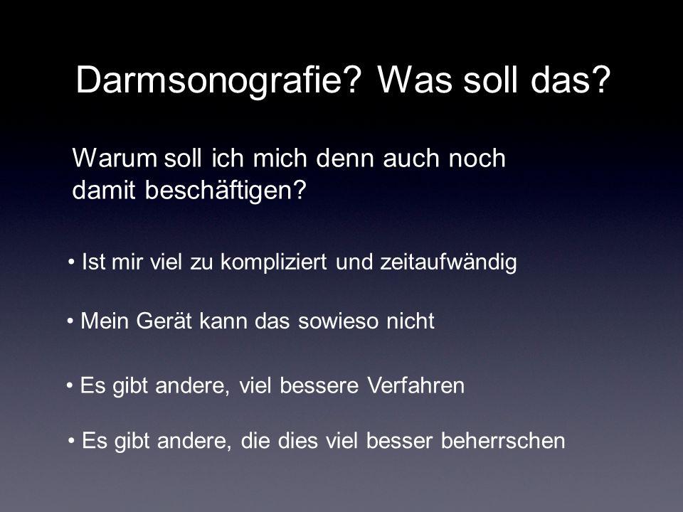 Dünndarm/Dickdarm Untersuchungs-Schnitte