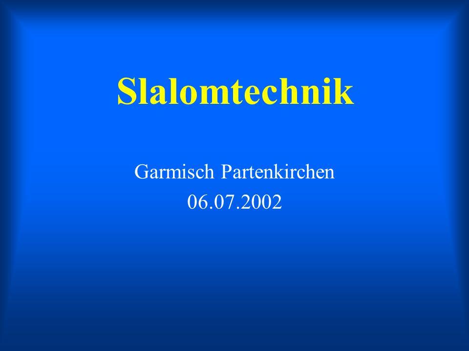 Slalomtechnik Garmisch Partenkirchen 06.07.2002