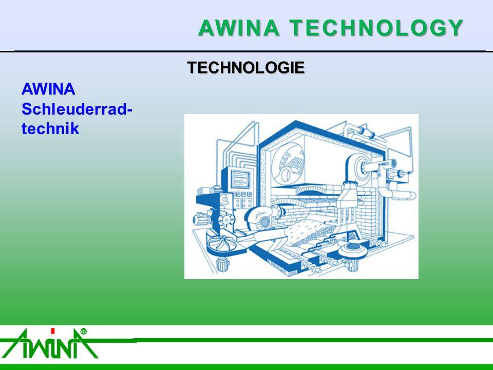4 06/2003 TECHNOLOGIE AWINA Schleuderrad- technik AWINA TECHNOLOGY