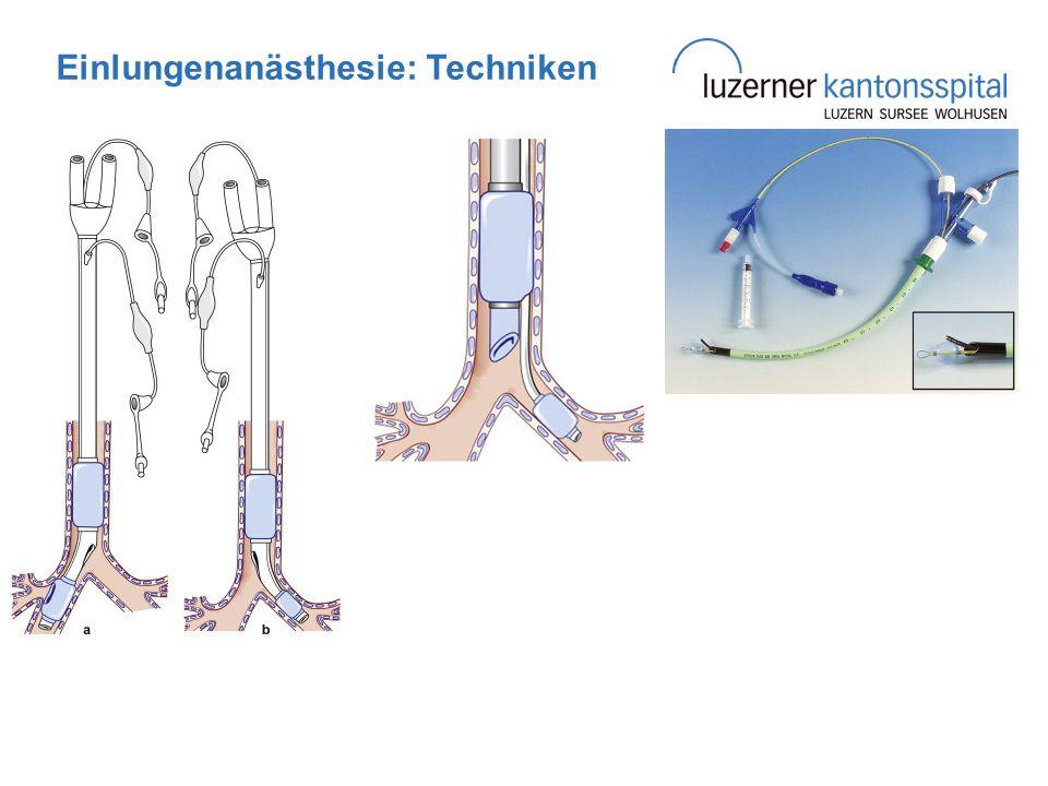 Einlungenanästhesie: Techniken