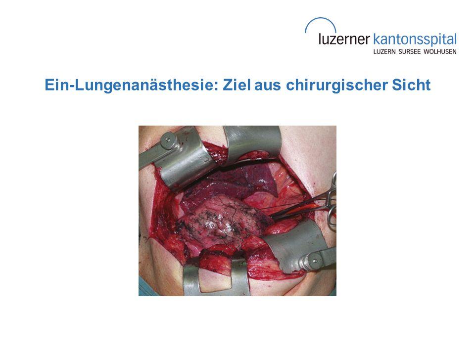 Ein-Lungenanästhesie: Ziel aus chirurgischer Sicht
