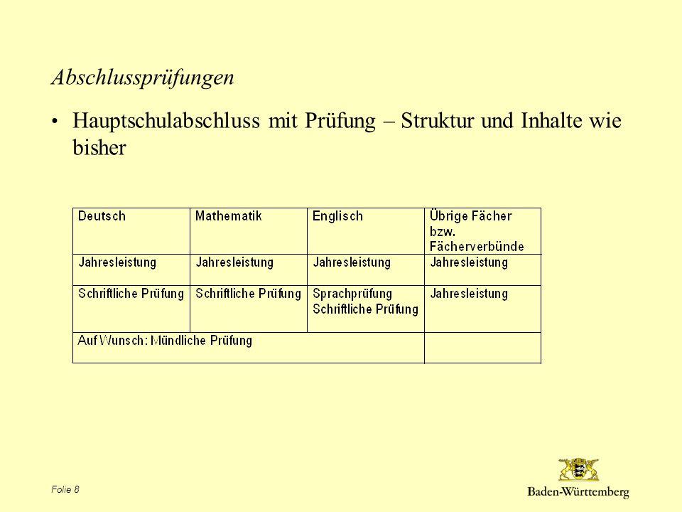 Werkrealschulabschluss (Mittlerer Bildungsabschluss) DeutschMathematikEnglischMNT (Materie- Natur-Technik) oder WPF (Wahlpflichtfach) Übrige Fächer bzw.