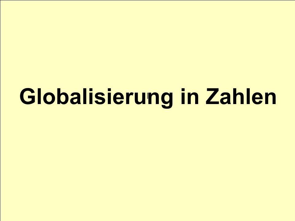 I Globalisierung in Zahlen