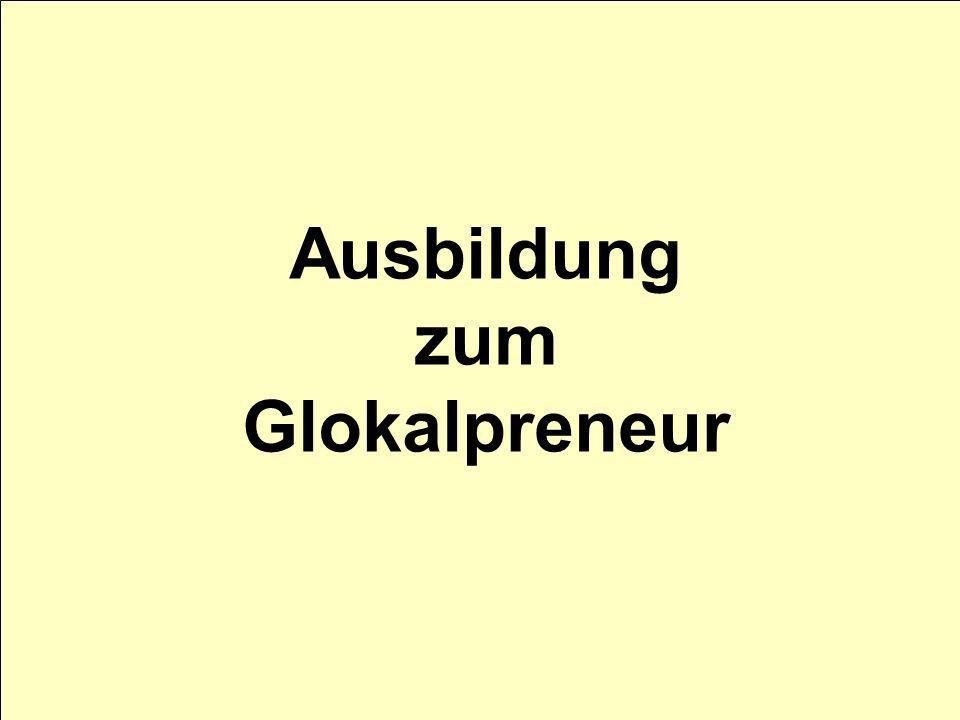 Ausbildung zum Glokalpreneur