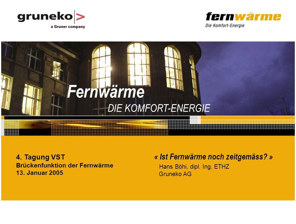 Fernwärme DIE KOMFORT-ENERGIE « Ist Fernwärme noch zeitgemäss.