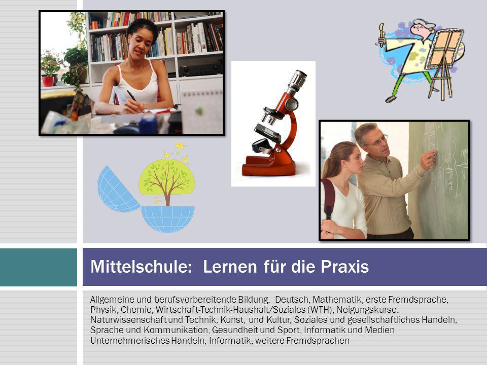 Allgemeine und berufsvorbereitende Bildung.