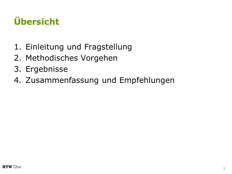 Übersicht 1.Einleitung und Fragstellung 2.Methodisches Vorgehen 3.Ergebnisse 4.Zusammenfassung und Empfehlungen 2
