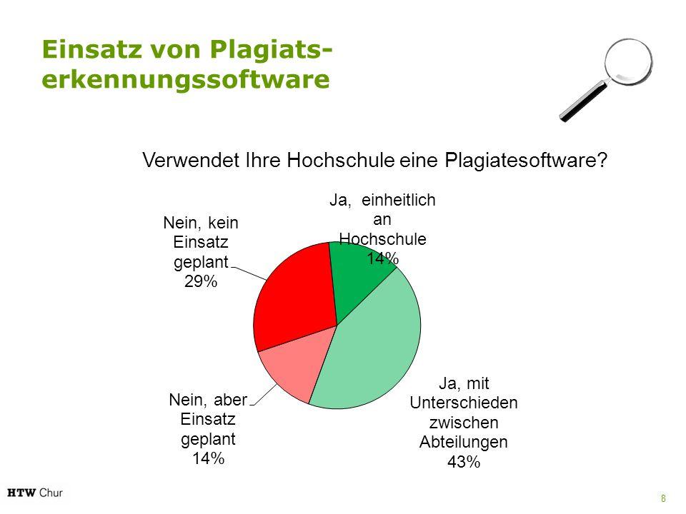 Einsatz von Plagiats- erkennungssoftware 8