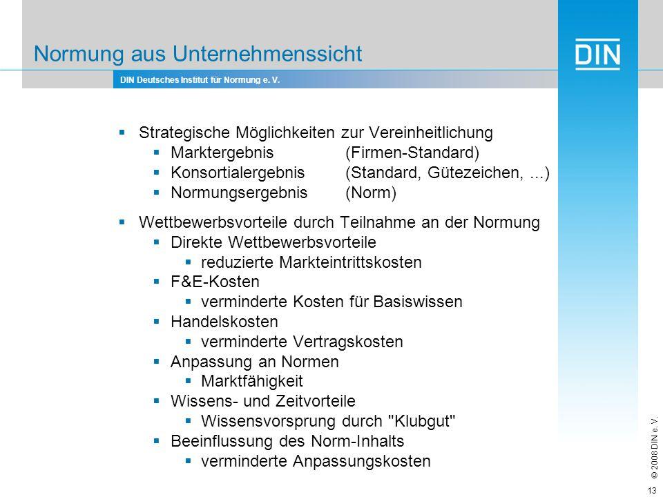 DIN Deutsches Institut für Normung e.V. © 2008 DIN e.