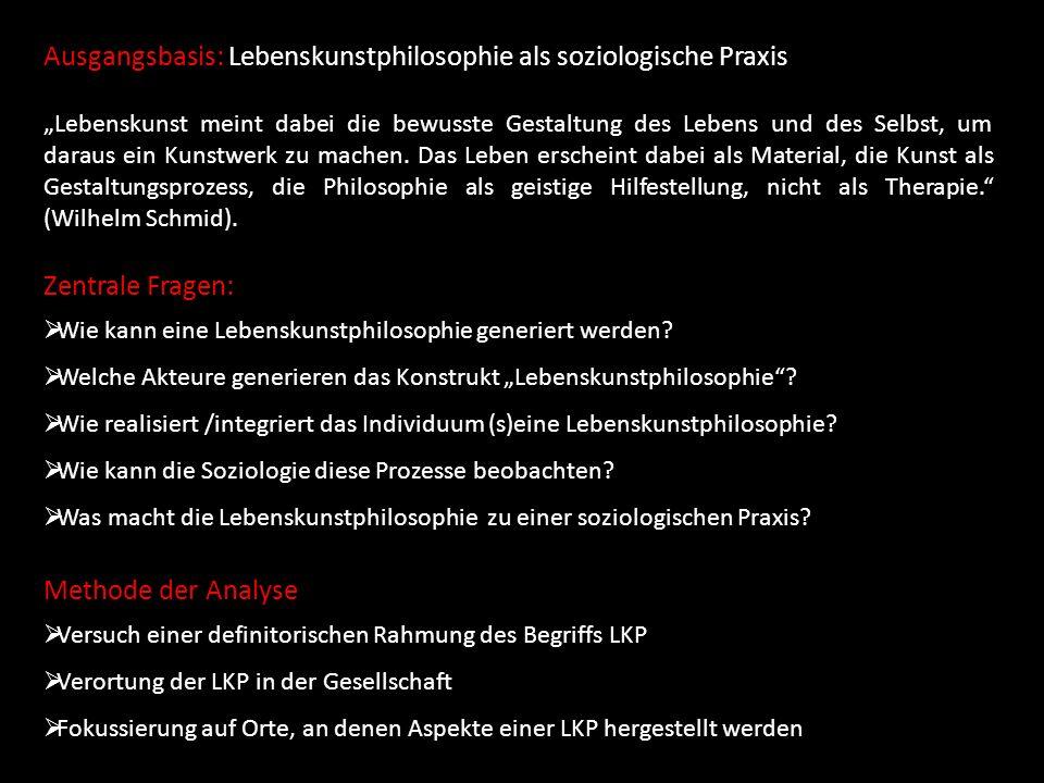 Konkrete Analyseschritte: Praxen der LKP Gesellschaft der LKP Definition der LKP W.