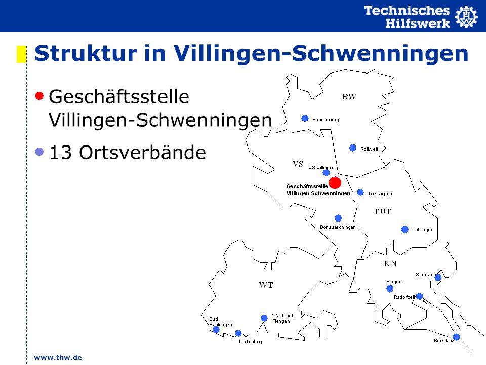 www.thw.de Struktur in Villingen-Schwenningen Geschäftsstelle Villingen-Schwenningen 13 Ortsverbände
