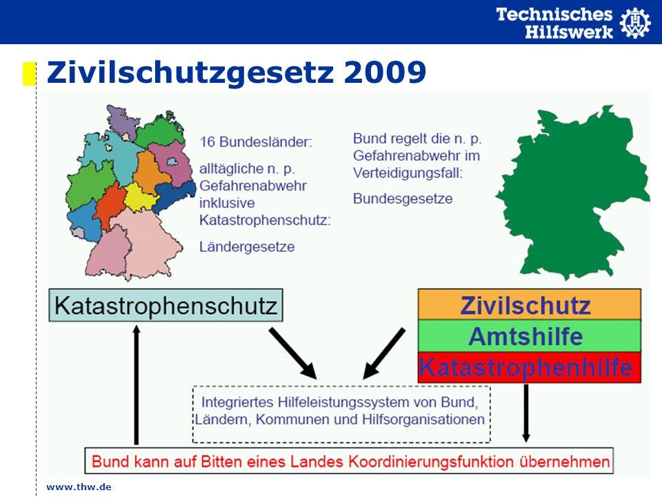 www.thw.de Zivilschutzgesetz 2009