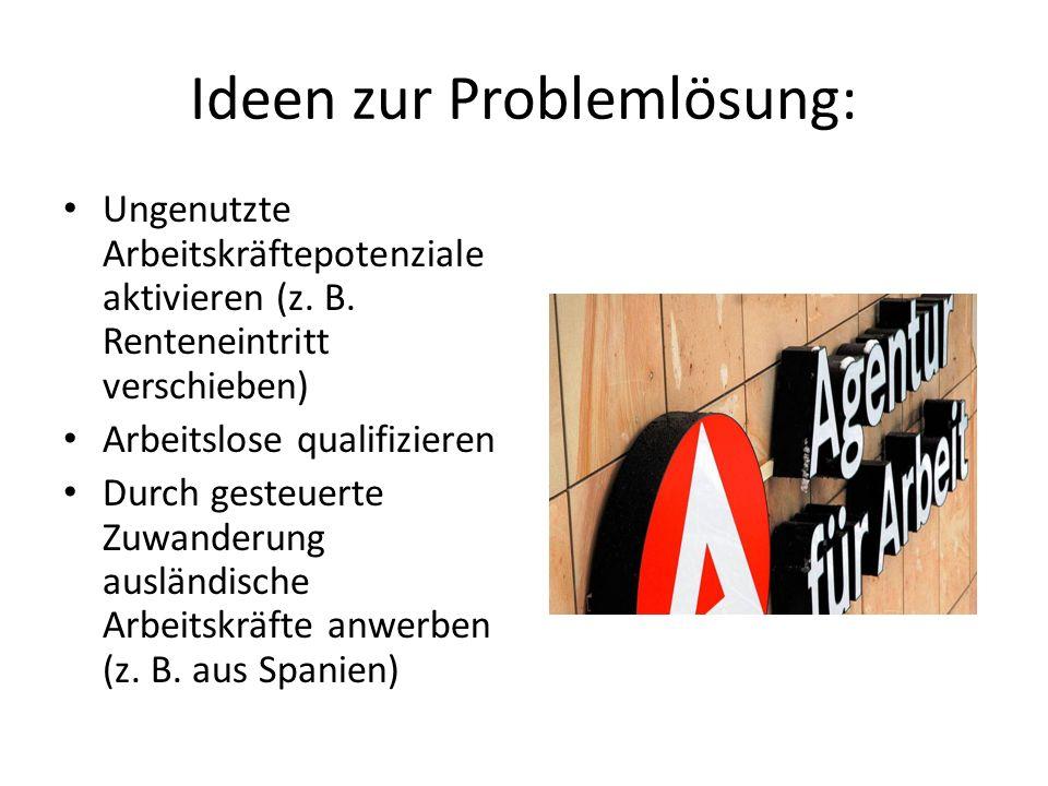 Ideen zur Problemlösung: Ungenutzte Arbeitskräftepotenziale aktivieren (z.